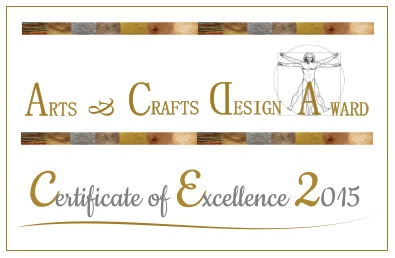 Arts & Crafts Design Award 2015 Certificate of Excellence